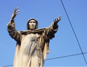 Savonarola statue in Ferrara