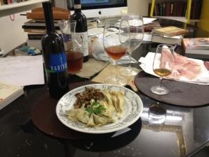 Antipasti with Radikon's orange wine