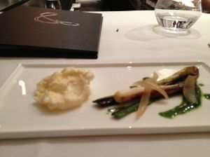 Sharpham cheese with pickled and roasted onions