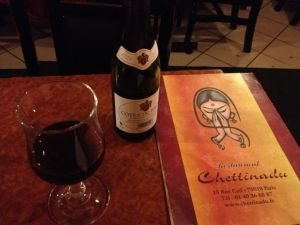 Great food at Chettinad, dubious wine