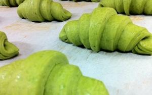 Matcha (green-tea) croissants at Des Pains et les Idees.  Don't knock it til you try it !