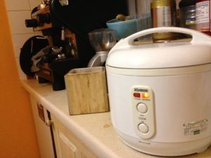 Must have for any kitchen (that makes Indian or Japanese food). Zojirushi rice cooker.  Teflon lining makes cleaning a snap.