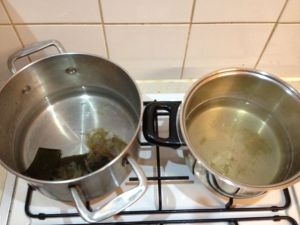 Making primary and secondary dashi