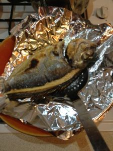 The grilled bream