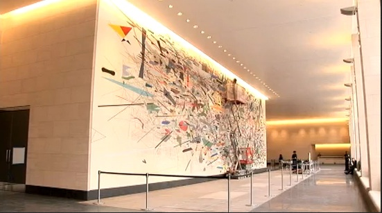 Julie Mehretu at Goldman Sachs