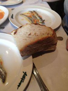 Restaurante Asturianos' fabulous marinated sardines with tomato concasse