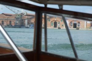 One of the exciting bits - the free water taxi from Arsenale to Arsenale Nord !