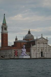 Mark Quinn's sculpture of Alison Lapper, inflatable, and either clever product placement or just an eyesore, depending on how much one likes the view of San Giorgio Maggiore.  His other pieces on the island were somewhere between grotesque and forgettable.