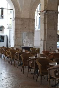 Udine's poshest cafe, Beltramme.  Superb porchetta panini.