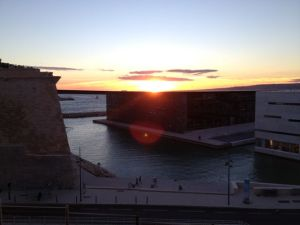 Sunset over MuCEM