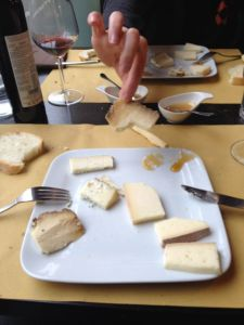 The cheeses at Garibaldi (Bra).  Notably, the stanky old Castelmagno.