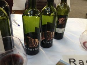 And their de Sol a Sol, note the great label: the hands of the winemakers parents, if I recall