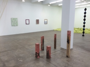 Group show at Andrew Kreps (Dianna Molzan on the far wall)