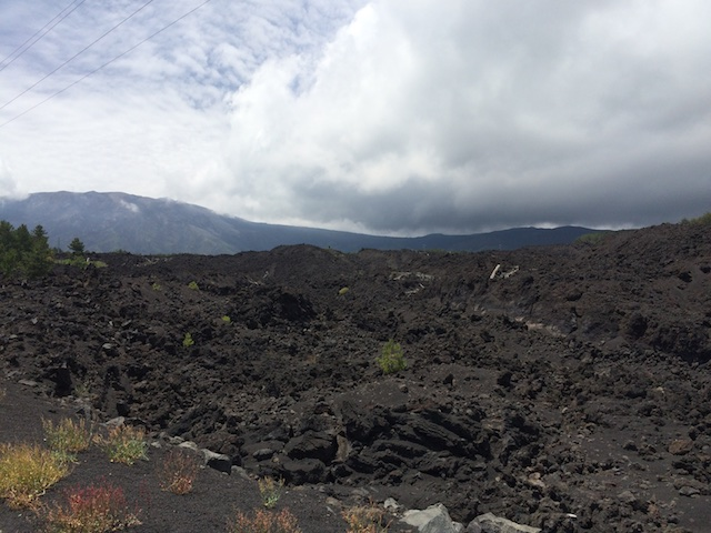 The black earth of Etna.